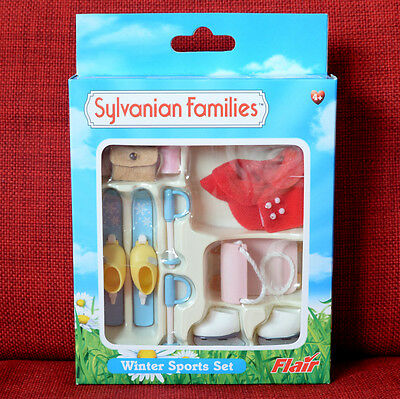Sylvanian Families WINTER SPORTS SET Flair UK Retired 4373 Calico Critters