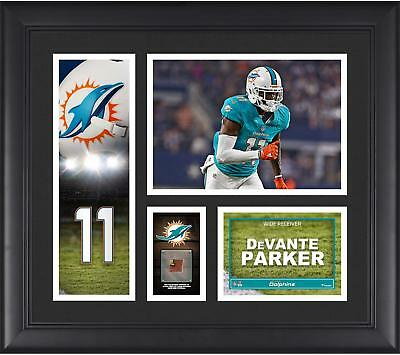 """DeVante Parker Miami Dolphins Framed 15"""" x 17"""" Player Collage with Item#7227017"""