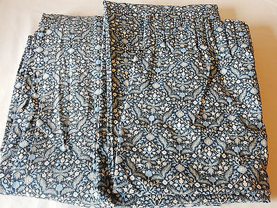 Lovely Pair of Sanderson Unlined Curtains Travis Pattern 1970s VG Vintage Condit