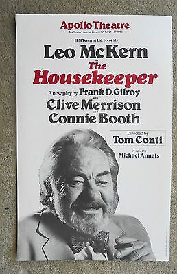 1980s THE HOUSEKEEPER poster at the APOLLO THEATRE with LEO MCKERN, CONNIE BOOTH