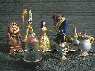 New Full Set! -Beauty and the Beast- Tiny! 7 Figures incl Rose Disney Choco Egg