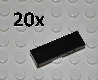 Lego Parts - 20X 1X3 Black Tiles/flat Building Pieces/bulk Panels/63864