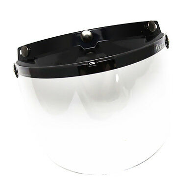 Anti-scratch UV400 Clear Lens Flip Up Visor Shield for Motorcycle Helmet