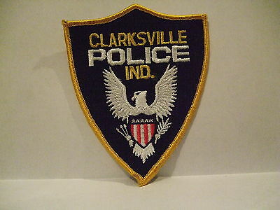 police patch  CLARKSVILLE POLICE INDIANA