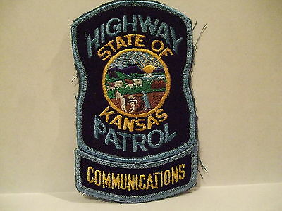 police patch  STATE OF KANSAS HIGHWAY PATROL COMMUNICATIONS