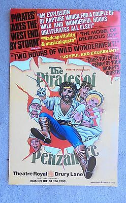 1982 THE PIRATES OF PENZANCE poster at the THEATRE ROYAL DRURY LANE
