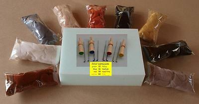 Needle Felt Felting Starter / Refill KIT PACK 7 - Choose Your Colours