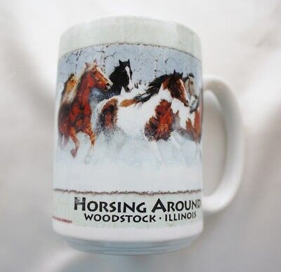 Horsing Around - Woodstock-Illinois-CERAMIC MUG by CUPPA - 12 oz. Capacity