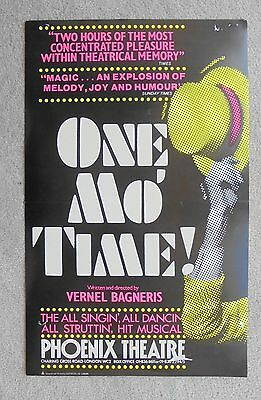 1981 ONE MO TIME poster at the PHOENIX THEATRE