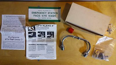 "OPTI-KLENS II EYEWASH OSHA Emergency Fountain IN BOX fits 3/4"" x 27"" Thrd Faucet"