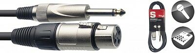 Stagg High Quality Microphone XLR To Jack Cable - 1M, 3M, 6M & 10M Lengths