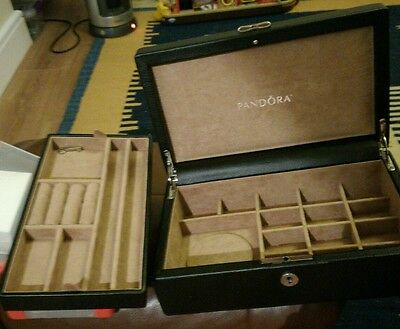 Limited Edition Pandora Leather Jewellery Box . Key No Included