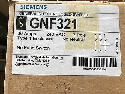 Siemens GNF321 Safety Switch  ** New, Free Shipping **