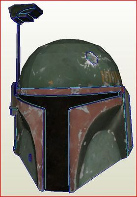 Star Wars Boba Fett Helmet (Rendered) Diy Kit +  Cpt Usa Kit Cosplay Cinema Card
