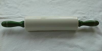 Vintage  Nutbrown China Rolling Pin.