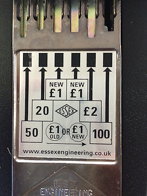 Straight Six Pool Table / Football Table Coin Mech. Accepts New Pound.