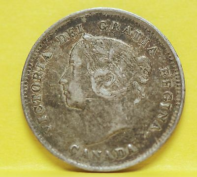 Canada, 1885 (Large 5) 5 Cents, silver, Very Fine,                         19rmg