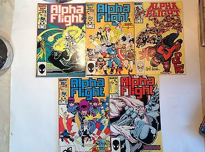 Marvel - Alpha Flight x 5. Lot 9.
