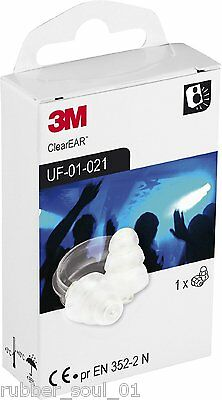 3M E.A.R Clear Earplugs - UF-01-021 - 1 Pair  (FREE UK P&P)