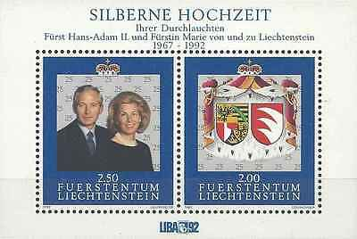 Timbres Personnages Blasons Liechtenstein BF17 ** lot 558