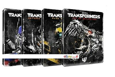 Transformers Collection 01-04 Steelbook Edition (8 Blu-Ray) Edizione Limitata