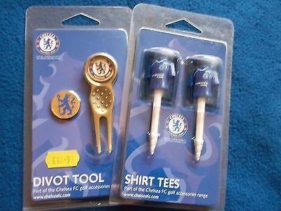 New Official Chelsea Fc Golf Divot Repair Tool, Ball Marker & Tee's