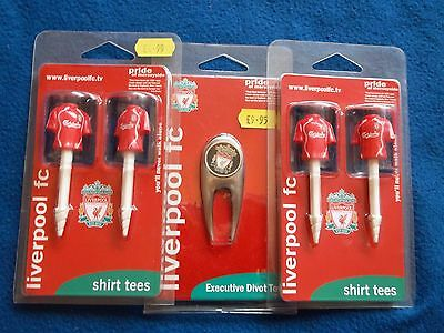 New Official Liverpool Fc Golf Divot Repair Tool, Ball Marker & Tee's