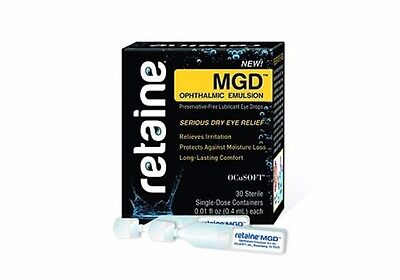 Retaine MGD Ophthalmic Emulsion Preservative- Eye Drops 30 Single-dose Container