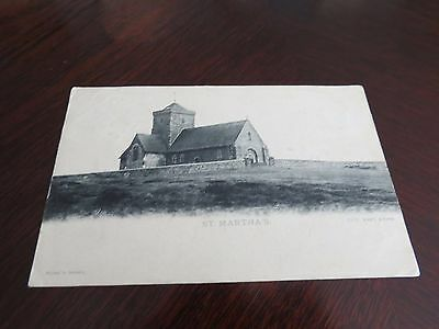 Vintage Postcard St Martha's Church  (Guildford P/m 1905 )