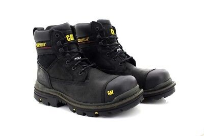 Caterpillar GRAVEL S3 CT015 6 inch Industrial Safety Midsole Boots Black Oily Le