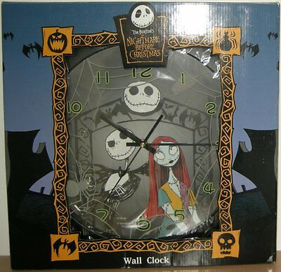 Nightmare Before Christmas Jack Sally Big Wall Clock figure