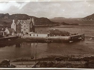 Real Photo  Culag Hotel_+Pier  - Lochinver Assynt 1940s