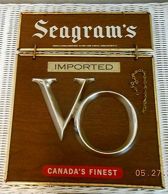 Early 1940's V O Seagrams  Bar Sign
