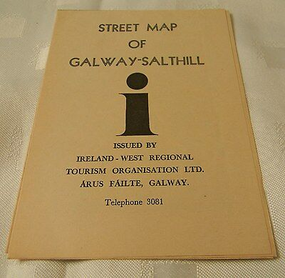 Street Map of Galway-Salthill, 1967