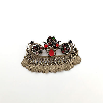 Vintage Kuchi Tribal Afghan Barrette Hair Clip Ethnic Headdress Ornament