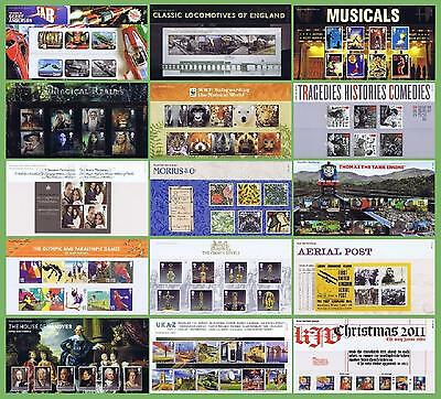 2011 Royal Mail Stamp Year Set of 15 Presentation Packs 450- 459- 462 463 (2705)