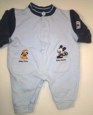 Vintage Disney Babies Baby Clothes Outfit Jumpsuit Romper 3-6 Months Mickey