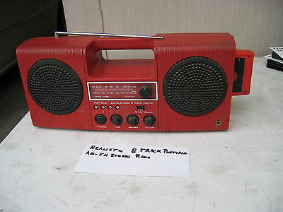 Realistic Am/fm Stereo Radio,8 Track, Model 14-918 Portiplay