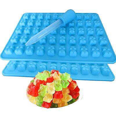 50 Cavity Chocolate Ice Tray Bear Silicone Maker Candy Mold Gummy Jelly DIY
