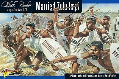 Warlord Games Black Powder Married Zulus 28mm Scale Miniatures