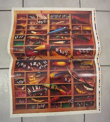 """Vintage Fishing Lures, Tackle Poster """"CATCH THE WINNERS"""" Mead-Zellerbach 1990"""