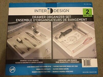 InterDesign Plastic Utensil Drawer Organizer Set (2 Pieces)