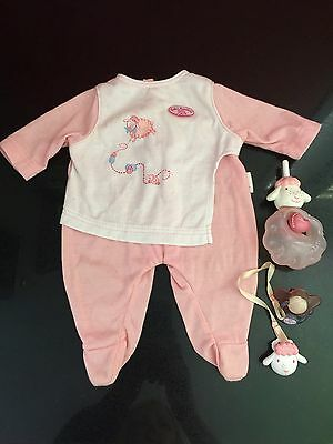 Zapf Creations BABY ANNABELL Doll Romper, Bottle & Dummy With Clip