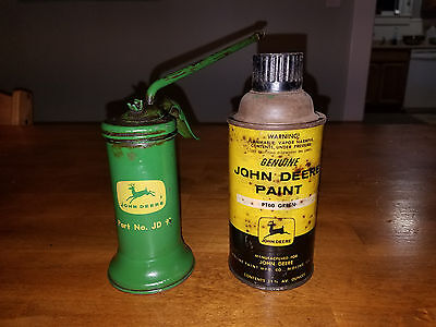 Vintage John Deere Oil Can Oiler and Spray Paint Can