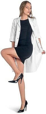 Dr. James 3/4 Sleeve Ladies Lab Coat for Women