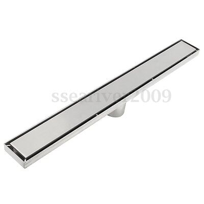 600mm Stainless Steel Bathroom Floor Drain Tile Insert Shower Drain Grate Linear