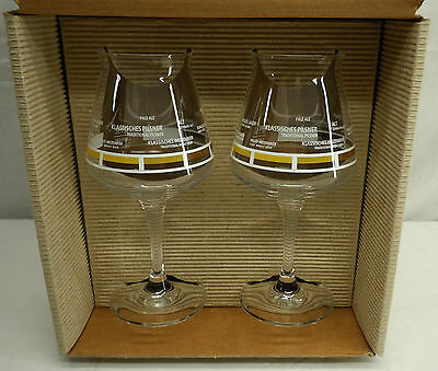Rastal Teku Craft Beer Tasting Glass Goblets with Color Chart and Names