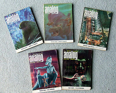 Analog Science Fiction 5 issues April-Aug 1965 The Prophet of Dune Frank Herbert