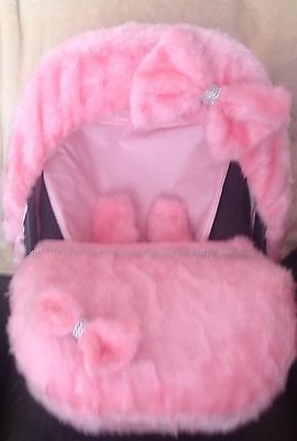 baby car seat cosy toes footmuf matching liner and hood