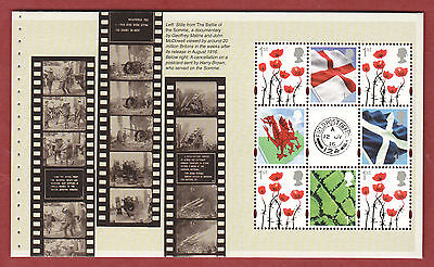 2016 DY18 The Great War prestige booklet pane 1, (DP502)